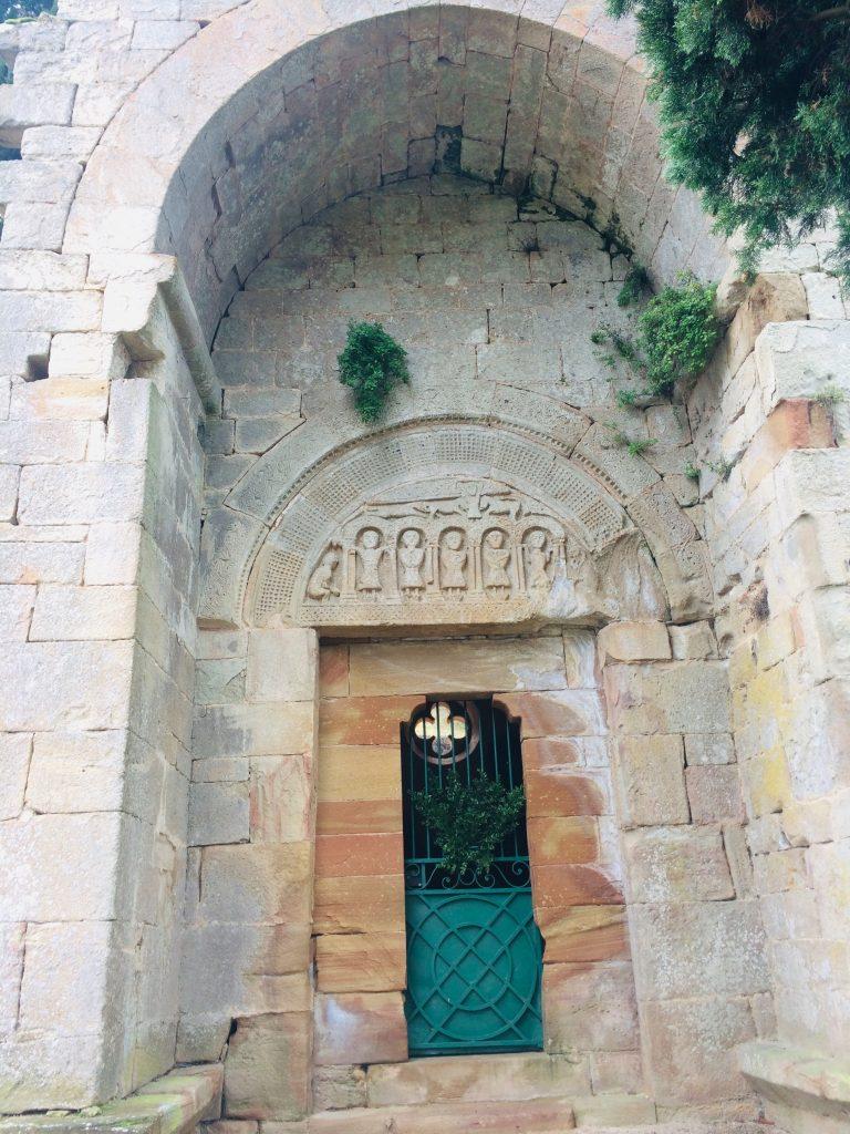 Tympan roman Eglise de St Caprais